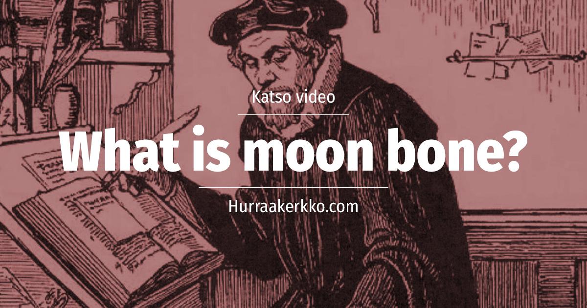 What is moon bone? Suomalaisia sanontoja englanniksi – katso video!